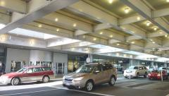 Portland Airport Arrivals Pick Up Time Lapse Stock Footage