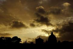Rome - Sunset on Saint peter Stock Photos
