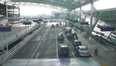 Portland Airport Departure Drop Off Stock Footage