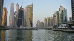 Dubai Marina, United Arab Emirates. Timelapse video Stock Footage
