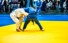 Competitions on Judo among Juniors Stock Photos