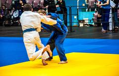 Competitions on Judo among Juniors - stock photo