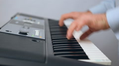 Keyboardist , keyboard Stock Footage
