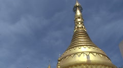 Pathein, Big Golden Pagoda Stock Footage