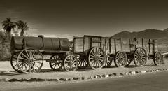 Death valley historic train - stock photo