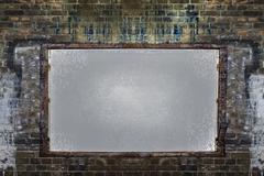 Brick wall board - stock photo