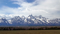 Beautiful mountains panorama, time lapse Stock Footage