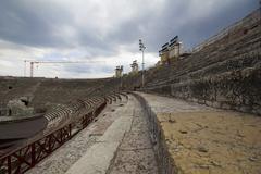 20 April 2014 - Verona Arena (Arena di Verona) Italy - stock photo