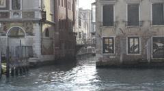 Venice Alley - Vaporetto - Ungrad - stock footage