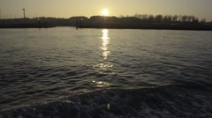 Venice Sunset from the Vaporetto - Ungrad - stock footage