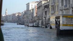 Vaporetto Departure in Venice - Ungrad - stock footage