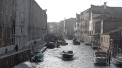 Venice Busy Canal in Venice Italy - Ungrad Stock Footage