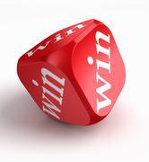 Win red dice Stock Photos