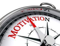 Motivation conceptual compass on white background Kuvituskuvat