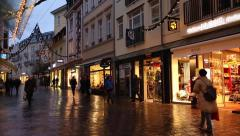 The downtown on Baden Baden, Germany. Stock Footage