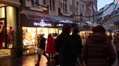 The downtown on Baden Baden, Germany. - stock footage