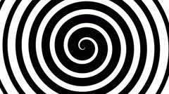 Hypnotic turning spiral, seamless loop animation - stock footage