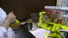 Food prep, chef mixing spices Stock Footage