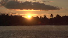 Pathein, sunset at the Irrawaddy river Stock Footage