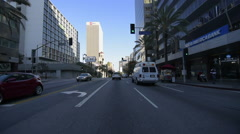 Driving Plates Multi Angle LA Wilshire Blvd 08 CAM1 Front Korea Town Eastbound Stock Footage