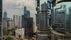 Close up of day light block buildings 4k time lapse from hong kong city Stock Footage