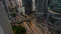 Cloudy day traffic crossroad 4k time lapse from hong kong city Stock Footage
