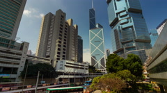 Day light city jungle block 4k time lapse from hong kong china Stock Footage