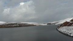 Craig Goch reservoir in winter – long shot Stock Footage