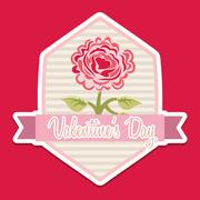 valentines day design, vector illustration eps10 graphic - stock illustration