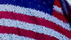Flag scatter Stock Footage