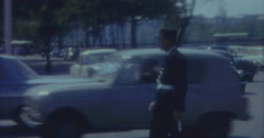 Paris Vintage  60s 16mm Police Traffic Cars Stock Footage