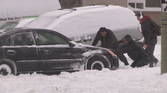 Aftermath of massive snow storm in Ontario after snow squalls Stock Footage
