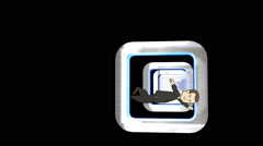 Cartoon Character, Trapped in Tunnel Effect: Loop Stock Footage