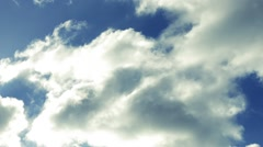 Silver Lining Clouds Moving Slowly Stock Footage