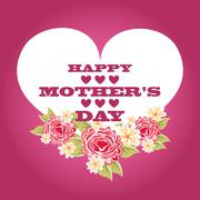 mothers day design, vector illustration eps10 graphic - stock illustration