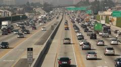 Los Angeles Freeway Traffic Stock Footage