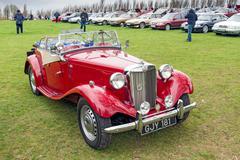 Vintage MG car Stock Photos