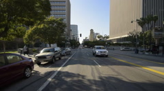 Driving Plates Multi Angle LA Wilshire Blvd 09 CAM2 Rear Korea Town Eastbound Stock Footage