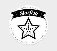 Stock Illustration of starfish icon design, vector illustration eps10 graphic