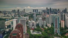 City backside panoramic city view 4k time lapse from singapore Stock Footage