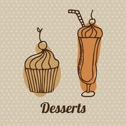 Stock Illustration of delicious desserts   design, vector illustration eps10 graphic