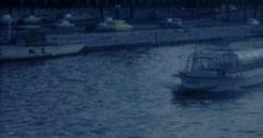 Paris Seine Boat Street 60s 16mm Vintage Stock Footage