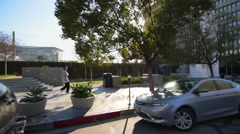 Driving Plates Multi Angle LA Wilshire Blvd 09 CAM4 3/4 R Korea Town Eastbound  Stock Footage
