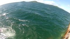 Locals Swimming in Ocean off the Island of Pohnpei Stock Footage