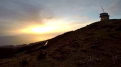 Sunset Madeira Paul do Serra Stock Footage