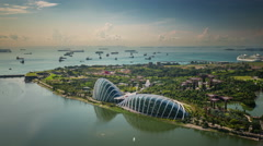 Singapore flyer view on coast and garden 4k time lapse Stock Footage