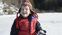 Winter fun Stock Footage