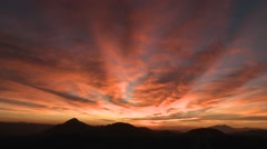 The sky darkens as the sun sets. Stock Footage