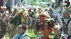 Pow wow dancing - stock footage