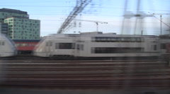 1m30s Arlanda Express from Stockholm w/Sound Stock Footage